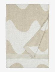 Marimekko Home - LOKKI BATH TOWEL - hand towels & bath towels - beige, white - 0