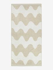 Marimekko Home - LOKKI BATH TOWEL - hand towels & bath towels - beige, white - 1