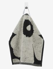 Marimekko Home - UNIKKO MINI TOWEL 30X30 CM - håndklæder - black/sand - 0