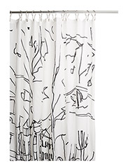 "HETKIÃ"" SHOWER CURTAIN - WHITE,BLACK"