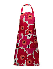 PIENI UNIKKO APRON - WHITE, RED