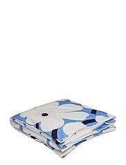 UNIKKO DUVET COVER - SKY BLUE, OFF-WHITE, PLUM