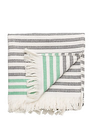 TASARAITA HAND TOWEL - ECRU, BLACK, GREEN