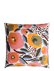 ROSARIUM CUSHION COVER - WHITE, RED, YELLOW,BLUE