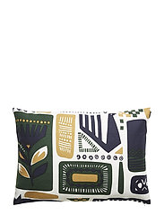 SVAALE CUSHION COVER - WHITE, DARK GREEN, DARK BLUE