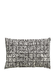 JUUSTOMUOTTI CUSHION COVER - BLACK, OFF WHITE