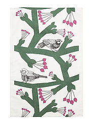 PIKKUPAKKANEN TEA TOWEL - WHITE, GREEN, FUCHSIA