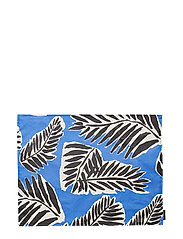 BABASSU ACRYLIC COTTON PLACEMAT - BLUE, BLACK, OFF-WHITE