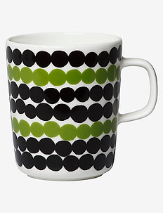 SIIRTOLAPUUTARHA MUG 2,5DL - tasses à café - white, black, green