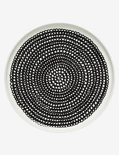 SIIRTOLAPUUTARHA PLATE - deep plates - white,black,black