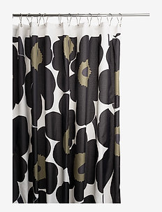 UNIKKO SHOWER CURTAIN - WHITE,BLACK