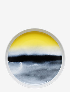 SÄÄPÄIVÄKIRJA PLATTER - asietter - white,black,yellow