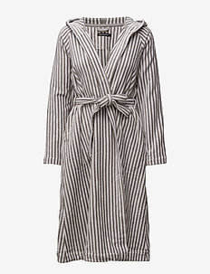 SIRO MARI BATHROBE - bathrobes - grey, white