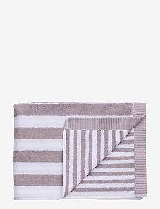 KAKSI RAITAA GUEST TOWEL - towels - grey, white