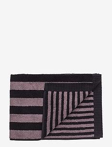 KAKSI RAITAA HAND TOWEL - towels - grey, black