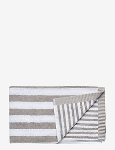 KAKSI RAITAA HAND TOWEL - towels - grey, white