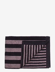 KAKSI RAITAA BATH TOWEL - towels - grey, black