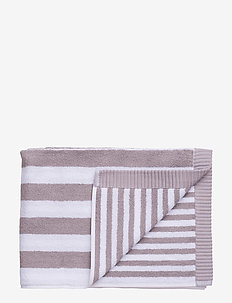 KAKSI RAITAA BATH TOWEL - towels - grey, white
