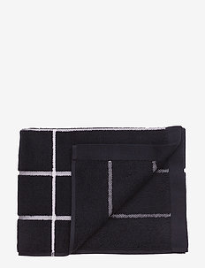 TIILISKIVI BATH TOWEL - towels - black, white
