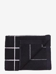 TIILISKIVI GUEST TOWEL - pyyhkeet & kylpypyyhkeet - black, white