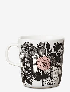 SIIRTOLAPUUTARHA MUG - kaffekopper - white, black, pink