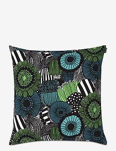 PIENI SIIRTOLAPUUTARHA CUSHION COVER - cushion covers - white, green