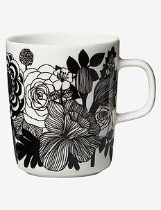 SIIRTOLAPUUTARHA MUG 2,5 DL - tasses à café - white, black, turquoise