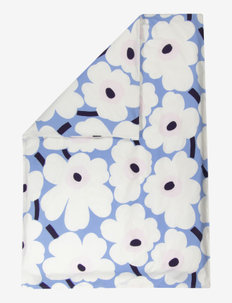 UNIKKO DUVET COVER - SKY BLUE, OFF-WHITE, PLUM