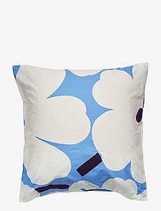 UNIKKO PILLOW CASE - SKY BLUE, OFF-WHITE, PLUM