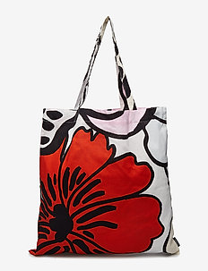ELÄKÖÖN ELÄMÄ BAG - casual shoppers - white, light grey, red