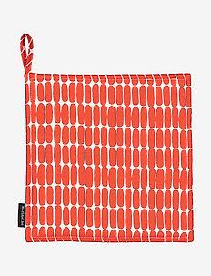 ALKU POT HOLDER - mitaines de four, gants et maniques - white, red