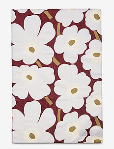 P.UNIKKO KITCHEN TOWEL 2 PCS - kökshanddukar - dark red, light gray,off-white