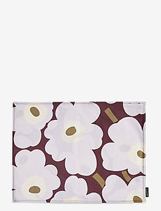 P.UNIKKO ACRYL C.PLACEMAT - kökshanddukar - dark red,light gray,off-white