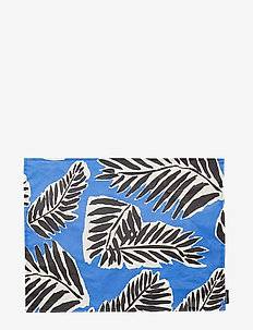 BABASSU ACRYLIC COTTON PLACEMAT - BLUE, BLACK, OFF-WHITE