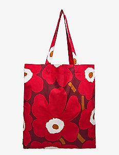Pieni Unikko bag - shopperit - dark red, red, light grey