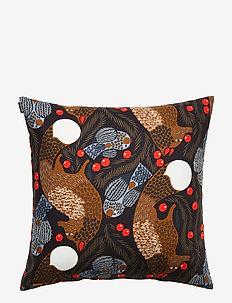 Ketunmarja cushion cover - DARK BLUE, BROWN