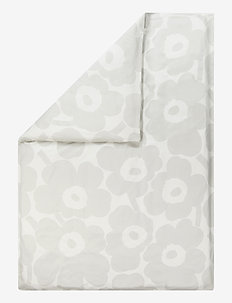 Unikko Satin duvet cover - WHITE, LIGHT GREY