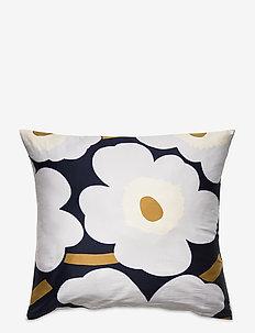 Unikko Satin pillow case - putetrekk - navy, light grey