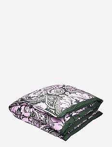 Fandango duvet cover - DARK GREEN, PINK