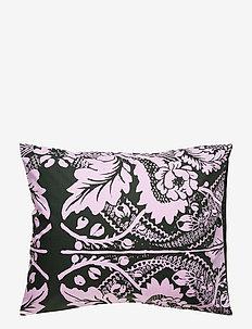 Fandango pillow case - DARK GREEN, PINK