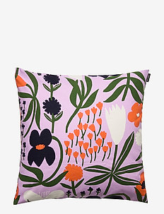 PALSTA CUSHION COVER - LILA, ORANGE, DARK BLUE