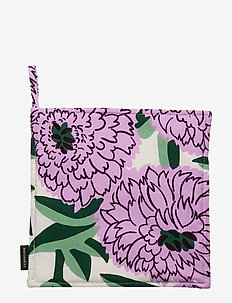 PIENI PRIMAVERA POTHOLDER - OFF-WHITE, VIOLET, GREEN