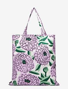 PIENI PRIMAVERA BAG - casual shoppers - off-white, violet, green