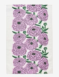 PIENI PRIMAVERA KITCHEN TOWEL - ręczniki kuchenne - off-white, violet, green