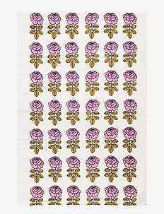 VIHKIRUUSU KITCHEN TOWEL - OFF-WHITE, PINK, DARK BLUE