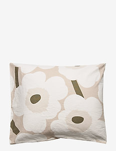 UNIKKO CO/LI PILLOW COVER - pillowcases - beige, white, green