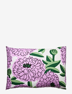 PRIMAVERA PILLOW CASE - pillowcases - off-white, violet, green