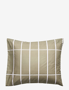 TIILISKIVI PILLOW COVER - GREYGREEN, WHITE