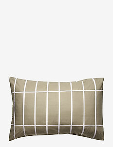TIILISKIVI PILLOW COVER - pillowcases - greygreen, white
