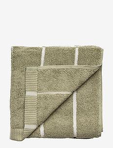 TIILISKIVI HAND TOWEL - GREYGREEN, WHITE
